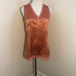 J. Jill Size 4 Silk Sleeveless Top Orange